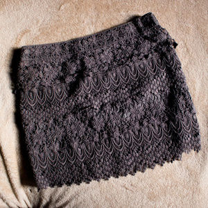AEO Crochet Skirt - Slate Gray - American Eagle